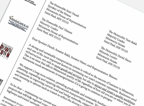 Chamber's Letter Supports Transportation Funding